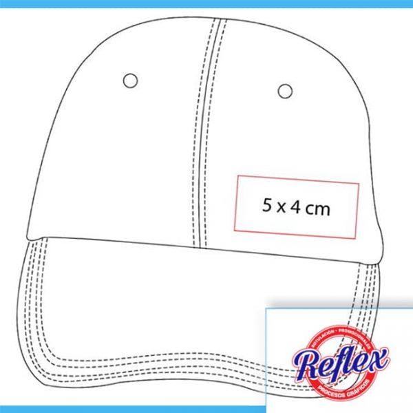 GORRA NAIROBI COLOR ROJO CAP 008 R Reflex Puebla - 3