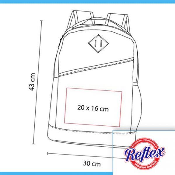 MOCHILA WALLY COLOR ROJO SIN 096 R Reflex Puebla - 2
