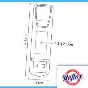 USB KINEL 16GB COLOR ROJO USB 092 R Reflex Puebla - 2